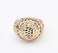 Women's European Fashion Shiny Rhinestone Special Pattern Band Ring