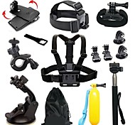 Chest Harness Front Mounting Monopod Anti-Fog Insert Tripod Clip Case/Bags Floating Buoy Suction Cup Wrenches Adhesive Mounts Straps Hand