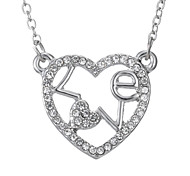 Hollow Love Couple Necklace Fashion Personality