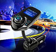 t10 super-bluetooth supporto del trasmettitore del giocatore kit vivavoce per auto fm musica mp3 wireless carta di TF, 5v 2.1A