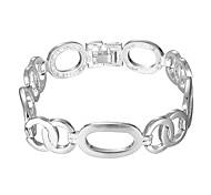 Lureme® Fashion Women' Bracelets Silver Plated Lock Chain Charm Bracelet