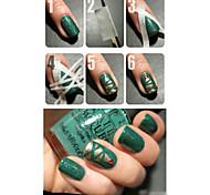 2 Stück Nagelkunst Bandrollen Nägel Dekoration Kantenführung Spitzen DIY Aufkleber Maniküre Streifen Werkzeuge (0.5cm * 17m)