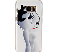 Girl Pattern PU Soft Case Phone Case For Samsung Galaxy S4/S5/S6/S6 edge+/S7
