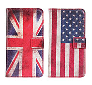 American or British  flag Leather case Cover Wallet Card Slot Case for LG G2