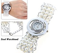 Fashion Casual Rhinestone Decoration Quartz Ladies Women Dress Watch Bracelet with Round Dial Cool Watches Unique Watches