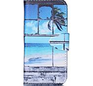 janela pintada caso de telefone pu para iphone5 / 5s