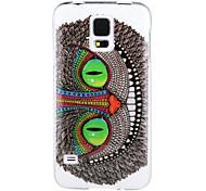 die Eule Muster auf einem weißen Hintergrund imd + tpu zurück Fall für Samsung-Galaxie s5