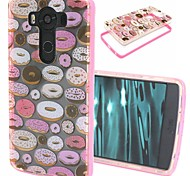 2-in-1 Donuts Pattern TPU Back Cover with PC Bumper Shockproof Soft Case for LG V10/G4 Stylus