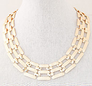 Women's Exquisite Fashion Concise Exaggerated Short Metal Chain Necklace