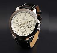 Men's CHENXI Watch Quartz Waterproof Sports Watch Calendar Genuine Leather Dress Watch (Assorted Color)
