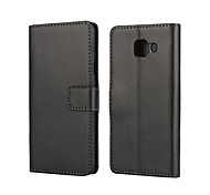 For Samsung Galaxy Case Card Holder / with Stand / Flip / Magnetic Case Full Body Case Solid Color PU Leather Samsung A3(2016)