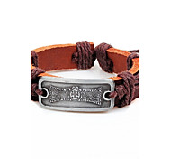 Bracelet- enAlliage / Cuir-Vintage / Mignon / Soirée / Travail / Décontracté-Cuir / Tressé / Cordon