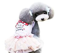 Cães Vestidos Rosa Verão Fashion