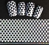 5pcs 20*4cm 2016 New Japanese White  Series Nail Art Stacked Triangle Design  Foils DIY Nail Sticker STZ Jw8