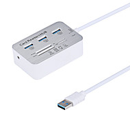 Cwxuan® High Speed 3 Port USB 3.0 Hub with SD / TF / MS / M2 / Card Reader  for Laptop/ PC (17cm)