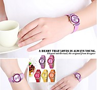 SKONE® Fashion Exquisite Wrist Watches Candy Colored PU Leather Strap Watches Rhinestone Quartz Watch for Girls 9 Colors