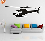 Forma / Trasporti Adesivi murali Adesivi aereo da parete,PVC S:37*112cm / M:46*121cm / L:62*186cm