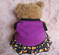 Holdhoney Green /Purple The Stars Vest  Cotton Dresses For Pets Dogs (Assorted Sizes) #LT15050269