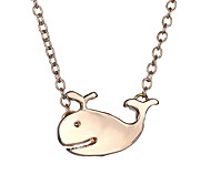Japan And South Korea Cute Whale Fashion Minimalist Necklace
