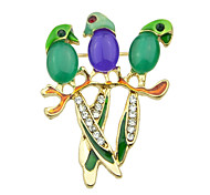 Multicolors Cute Parrot Small Brooch Korea