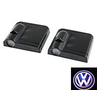 2Pcs Vw For Volkswagen Wireless Led Projector Light Courtesy Lamp
