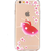 Girls Dance Pattern TPU Relief Back Cover Case for iPhone 6/iPhone 6S