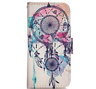Wind Chime Painted PU Phone Case for iphone5SE