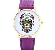 Women's Punk Fashion Skull Quartz Watch Leather Band Cool Watches Unique Watches
