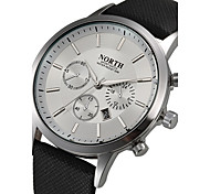 Creative Sports Style Luxury Fashion Mens Genuine Leather Band Analog Quartz Watches Casual Males Business Watch