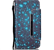 For Samsung Galaxy Case Card Holder / with Stand / Flip / Pattern / Magnetic Case Full Body Case Scenery PU Leather Samsung A3(2016)