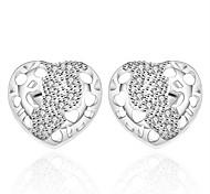Women's Fashionable Leaf 925 Silver Plated Earrings