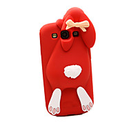 Cute Rabbit 3D Cartoon Soft Silicone Case for Samsung S3 I9300