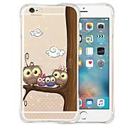 la familia del búho funda de silicona transparente trasero suave para el iPhone 6 / 6s (colores surtidos)