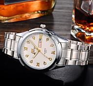 Men's Fashion Watch Dual Display Calendar Leisure Business Gifts Quartz Watch Waterproof Strip (Assorted Colors)