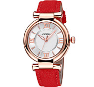 SINOBI ® Luxury Rose Gold Case Women's Watches for Fashion Ladies PU Leather Strap Wrist Watches Relogio Feminino Cool Watches Unique Watches