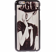 Sexy Lady Metal Sheet PC Bottom IML With Back Case For Iphone6/6s