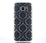 Для Samsung Galaxy S7 Edge Прозрачный / С узором Кейс для Задняя крышка Кейс для Плитка TPU SamsungS7 edge / S7 / S6 edge plus / S6 edge