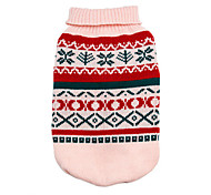 Dog Sweater Green / Pink / Yellow / Gray Winter / Summer / Spring/Fall Classic Keep Warm / Fashion
