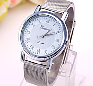 Ladies' Watch Geneva Silver Mesh Belt Students Quartz Watch