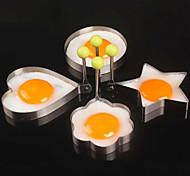 4pcs / lot quatre styles en acier inoxydable oeufs de périphériques omelette de moule outils