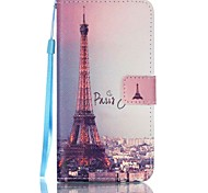 Signature Tower Pattern PU Leather Lanyard phone Case For Samsung Galaxy J5(2016)/J7(2016)