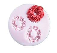 Три отверстия Круглый Цветок силиконовые формы Фондант Пресс-формы Сахар Craft Инструменты Смола цветы Плесень пресс-формы для тортов