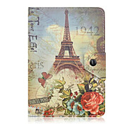 Universal 7 Inch Tablet PC Eiffel Tower Pattern Leather Case Magnetic Smart Case Anti-Dust
