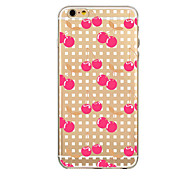 Fruits and vegetables Pattern TPU Transparent Phone Case Back Cover Case for iPhone6/6S