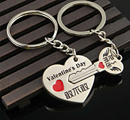 A Pair Creative Couple Keychains Heart Lock Dare Take My Lovers Keychain