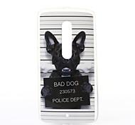 modelo del perro TPU caso suave para el juego motox Motorola