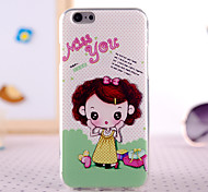 Shy Girl Design Back Cover Case for IPhone 6 Iphone6S
