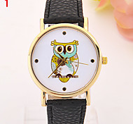 Ladies' Watch Fashion Owl Dial Students Quartz Watch