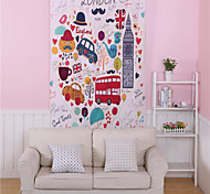 French Tapestry Fashion Style Wall Carpet Cute Bus London Mood Decorative Art Tapestry 1pc 140cmx210cm Gobelin Hot