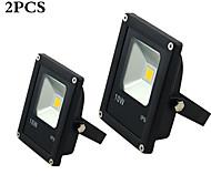 10W LED Flutlichter 1 High Power LED 100 lm Warmes Weiß / Kühles Weiß Wasserdicht AC 85-265 V 2 Stück